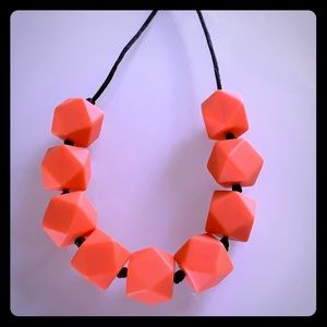 Brand new silicone beads necklace - Orange